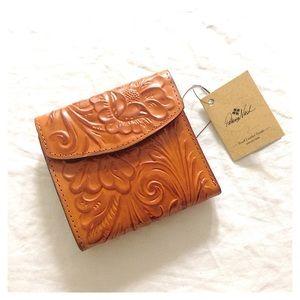 Patricia Nash Reiti Burnish Tooled Leather Wallet